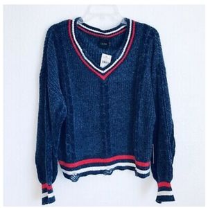 3 for $25 ❤ Varsity Chenille SWEATER NWT